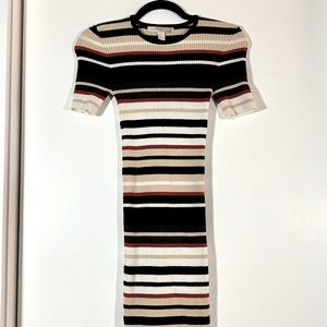 Forever 21 knit striped bodycon dress